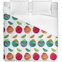 Watercolor Floral Roses Pattern Duvet Cover (King Size)