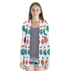 Watercolor Floral Roses Pattern Cardigans