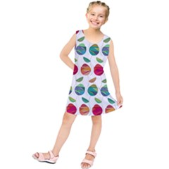 Watercolor Floral Roses Pattern Kids  Tunic Dress