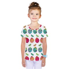 Watercolor Floral Roses Pattern Kids  One Piece Tee