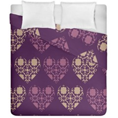 Purple Hearts Seamless Pattern Duvet Cover Double Side (california King Size) by Nexatart