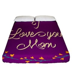 Happy Mothers Day Celebration I Love You Mom Fitted Sheet (queen Size) by Nexatart