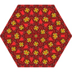 Digitally Created Seamless Love Heart Pattern Mini Folding Umbrellas by Nexatart