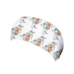 Floral Birds Wallpaper Pattern On White Background Yoga Headband by Nexatart