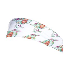 Floral Birds Wallpaper Pattern On White Background Stretchable Headband