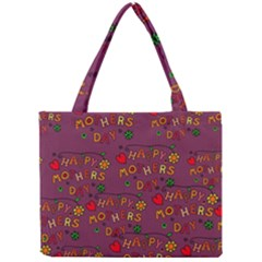 Happy Mothers Day Text Tiling Pattern Mini Tote Bag by Nexatart