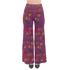 Happy Mothers Day Text Tiling Pattern Pants by Nexatart