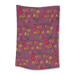 Happy Mothers Day Text Tiling Pattern Small Tapestry by Nexatart