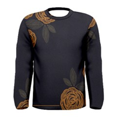 Floral Roses Seamless Pattern Vector Background Men s Long Sleeve Tee by Nexatart