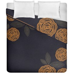Floral Roses Seamless Pattern Vector Background Duvet Cover Double Side (california King Size)