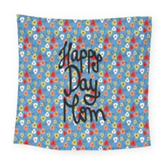 Happy Mothers Day Celebration Square Tapestry (large)
