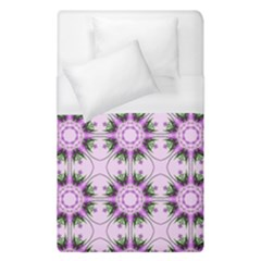 Pretty Pink Floral Purple Seamless Wallpaper Background Duvet Cover (single Size) by Nexatart