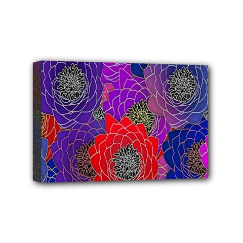 Colorful Background Of Multi Color Floral Pattern Mini Canvas 6  X 4