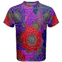 Colorful Background Of Multi Color Floral Pattern Men s Cotton Tee