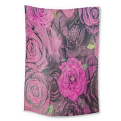 Oil Painting Flowers Background Large Tapestry