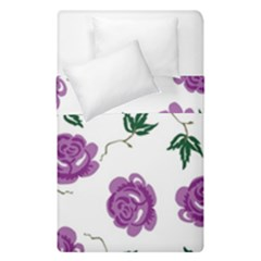 Purple Roses Pattern Wallpaper Background Seamless Design Illustration Duvet Cover Double Side (single Size)