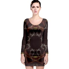Digitally Created Seamless Pattern Long Sleeve Bodycon Dress by Nexatart