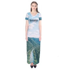 Mountain Pass Short Sleeve Maxi Dress