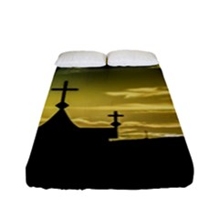 Graves At Side Of Road In Santa Cruz, Argentina Fitted Sheet (full/ Double Size) by dflcprints
