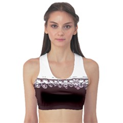 Bubbles In Red Wine Sports Bra by Nexatart