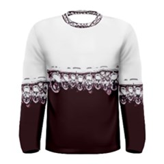 Bubbles In Red Wine Men s Long Sleeve Tee by Nexatart