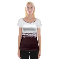 Bubbles In Red Wine Women s Cap Sleeve Top by Nexatart