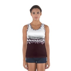 Bubbles In Red Wine Women s Sport Tank Top