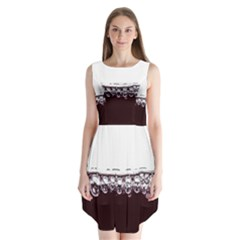 Bubbles In Red Wine Sleeveless Chiffon Dress