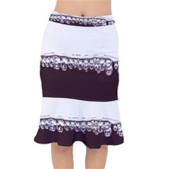Bubbles In Red Wine Mermaid Skirt