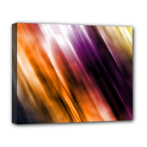 Colourful Grunge Stripe Background Deluxe Canvas 20  X 16   by Nexatart