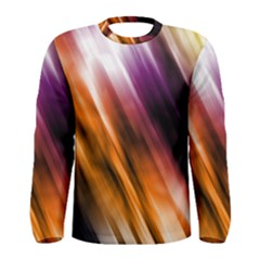 Colourful Grunge Stripe Background Men s Long Sleeve Tee