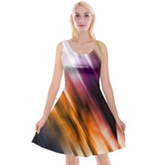Colourful Grunge Stripe Background Reversible Velvet Sleeveless Dress by Nexatart