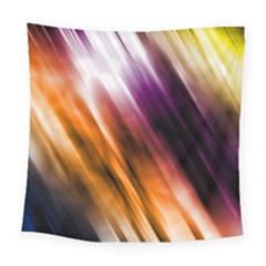 Colourful Grunge Stripe Background Square Tapestry (large) by Nexatart