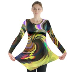 Spiral Of Tubes Long Sleeve Tunic