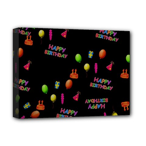 Cartoon Birthday Tilable Design Deluxe Canvas 16  X 12