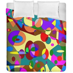 Abstract Digital Circle Computer Graphic Duvet Cover Double Side (california King Size) by Nexatart