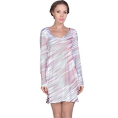 Fluorescent Flames Background With Special Light Effects Long Sleeve Nightdress by Nexatart