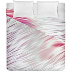 Fluorescent Flames Background With Special Light Effects Duvet Cover Double Side (california King Size) by Nexatart