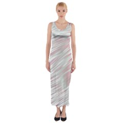 Fluorescent Flames Background With Special Light Effects Fitted Maxi Dress