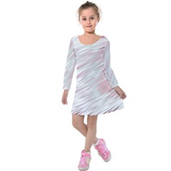 Fluorescent Flames Background With Special Light Effects Kids  Long Sleeve Velvet Dress