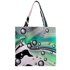 Small And Big Bubbles Zipper Grocery Tote Bag by Nexatart