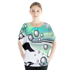 Small And Big Bubbles Blouse by Nexatart