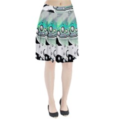 Small And Big Bubbles Pleated Skirt by Nexatart