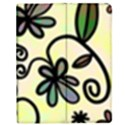 Completely Seamless Tileable Doodle Flower Art Apple iPad 2 Flip Case View1