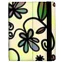 Completely Seamless Tileable Doodle Flower Art Apple iPad 2 Flip Case View2