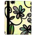Completely Seamless Tileable Doodle Flower Art Apple iPad 2 Flip Case View3