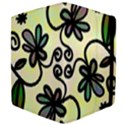 Completely Seamless Tileable Doodle Flower Art Apple iPad 2 Flip Case View4