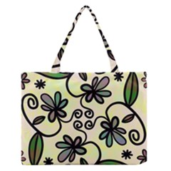 Completely Seamless Tileable Doodle Flower Art Medium Zipper Tote Bag by Nexatart