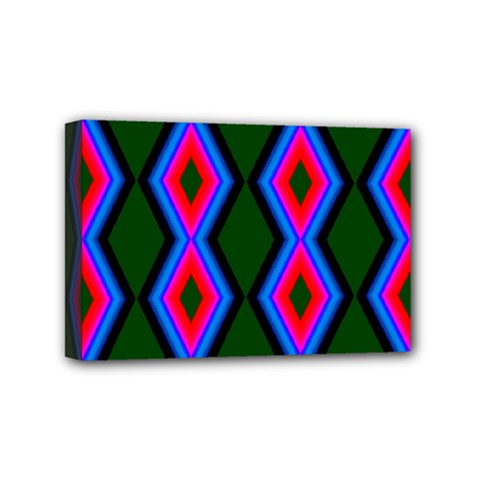 Quadrate Repetition Abstract Pattern Mini Canvas 6  X 4