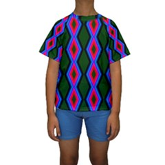 Quadrate Repetition Abstract Pattern Kids  Short Sleeve Swimwear by Nexatart